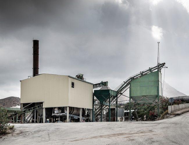 Asphalt products production unit